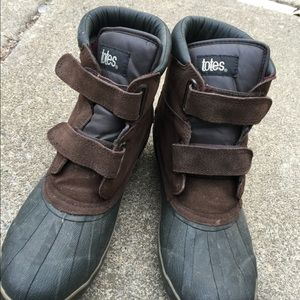 Men's Totes Lined Brown Waterproof Snow Boots 10.5